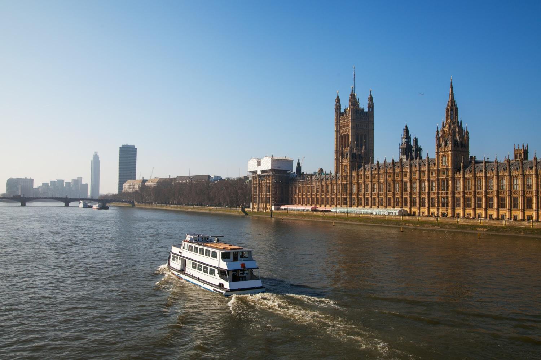 Thames river, London.